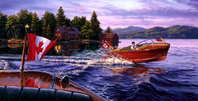 In The Wake Of A Legend – Canadian- Signed By The Artist – CanvasLithograph – Limited Edition – 999S/N – 15 3/8x30