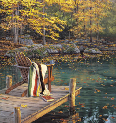 Reflecting On Golden Pond- Signed By The Artist – CanvasGiclee – Limited Edition – 95S/N – 26x24