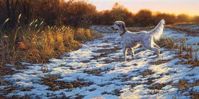 A Setter's Day- Signed By The Artist – PaperLithograph – Limited Edition – 600S/N – 15x30