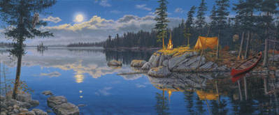 Still Of The Night- Signed By The Artist – CanvasLithograph – Limited Edition – 195S/N – 12 3/4x31