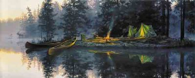 Whispering Pines- Signed By The Artist – PaperLithograph – Limited Edition – 1250S/N – 13 1/4x31