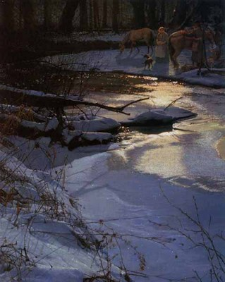 Breaking Camp At Turtle Creek- Signed By The Artist – CanvasGiclee  – Limited Edition  – 100S/N  –  30x24