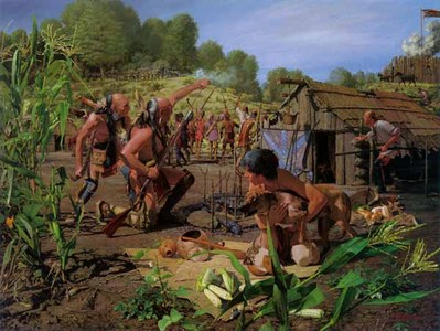 August 8, 1780: Engaging The Shawnee Village- Signed By The Artist – PaperLithograph  – Limited Edition  – 550S/N  –  21x28