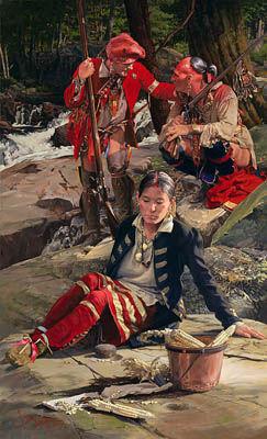 Kinsman To The Shawnee- Signed By The Artist – PaperLithograph – Limited Edition – 350S/N – 25x15 1/4