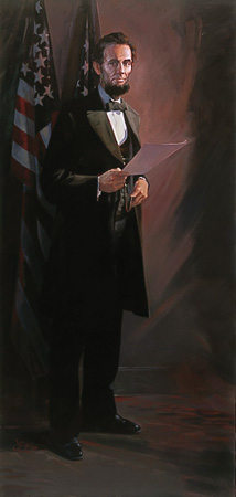 Abraham Lincoln- Signed By The Artist – CanvasGiclee  – Limited Edition  – 5A/P  –  85x40
