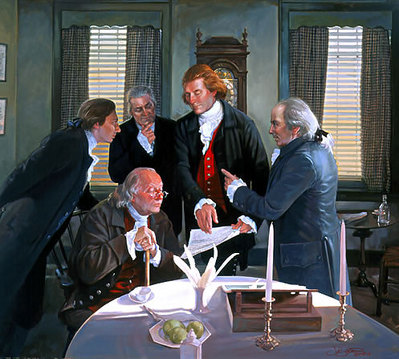 Founding Fathers: The Declaration Committee- Signed By The Artist								 – Canvas Giclee – Limited Edition – 55 S/N – 32 x 35