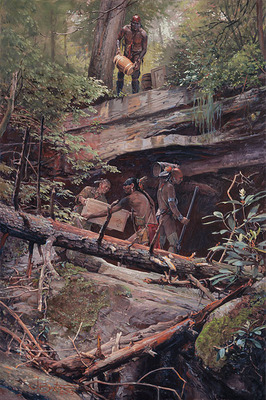 A Secret Cache- Signed By The Artist – CanvasGiclee  – Limited Edition  – 35S/N  –  23x15