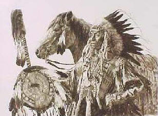 Chief High Pipe – Sepia- Signed By The Artist – PaperLithograph – Limited Edition – 950S/N – 19x25
