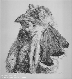 Man Of The Fur Trade- Signed By The Artist – PaperLithograph – Limited Edition – 44A/P – 15 3/4x14 1/2