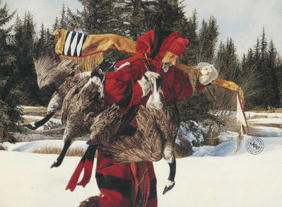 A Winter Feast- Signed By The Artist								 – Paper Lithograph – Limited Edition – 1250 S/N – 19 1/2 x 32 1/4
