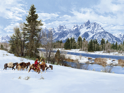 Early Snow In The Tetons- Signed By The Artist – PaperLithograph – Limited Edition – 650S/N – 23 3/4x32
