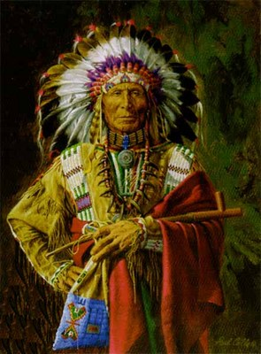 Chief Of The Rosebud- Signed By The Artist – CanvasGiclee – Limited Edition – 250S/N – 12x9