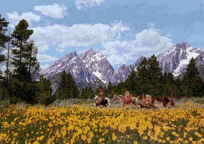 Family Of The Mountains- Signed By The Artist – CanvasGiclee – Limited Edition – 14A/P – 26x37