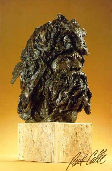 Free Trapper – Bronze- SculptureBronze – Limited Edition – Fine Art – 151/2″ High