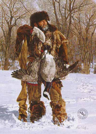 Hunter Of Geese- Signed By The Artist								 – Paper Lithograph – Limited Edition – 76 A/P – 11 3/4 x 8 1/2