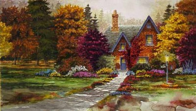 Sugar Maple Lane- Signed By The Artist – PaperLithograph  – Limited Edition  – 999S/N  –  16x28