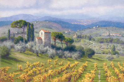Above Florence- Signed By The Artist – CanvasGiclee  – Limited Edition  – 250S/N  –  25x38