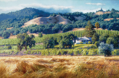 Alexander Valley Winery- Signed By The Artist – CanvasGiclee  – Limited Edition  – A/P  –  24x36