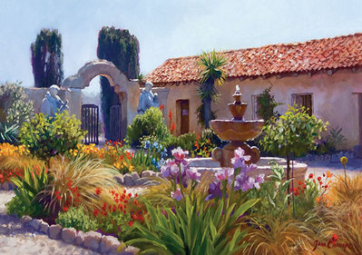 Big Little Mission Garden- Signed By The Artist								 – Canvas Giclee – Limited Edition – 275 S/N – 10 x 14