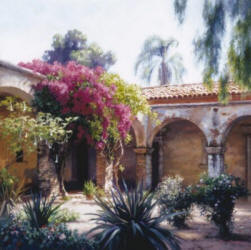 Bougainvillea- Signed By The Artist – CanvasGiclee  – Limited Edition  – 250S/N  –  28x28