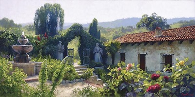 Mission Gate- Signed By The Artist								 – Canvas Giclee – Limited Edition – 10 A/P – 20 x 40