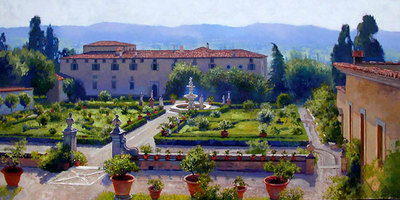 Villa Di Castello- Signed By The Artist								 – Canvas Giclee – Limited Edition – 200 S/N – 20 x 36