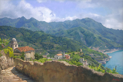 Amalfi Coast- Signed By The Artist – CanvasGiclee  – Limited Edition  – 55S/N  –  24x36