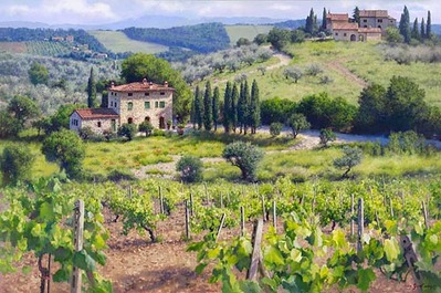 Chianti Estate- Signed By The Artist								 – Canvas Giclee – Limited Edition – 5 A/P – 40 x 60