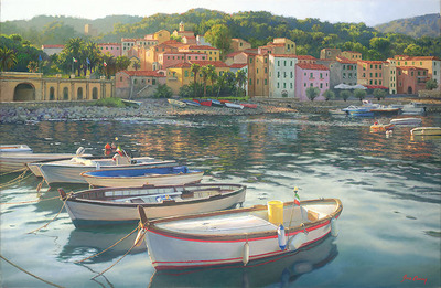 Rio Marina- Signed By The Artist – CanvasGiclee – Limited Edition – 75S/N – 17x26