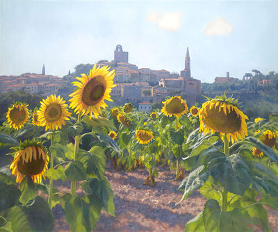 Sunflowers Of Castiglion Fiorentino- Signed By The Artist – CanvasGiclee – Limited Edition – 25S/N – 31x37