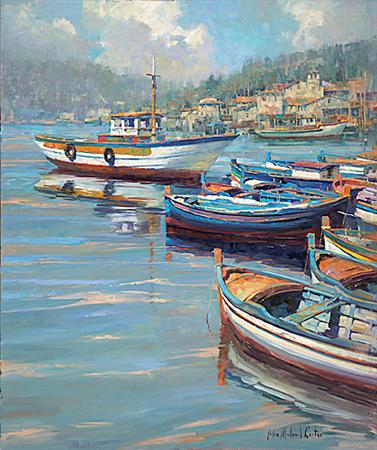 Harbor Moorings- Signed By The Artist – CanvasGiclee – Limited Edition – 95S/N – 36x30