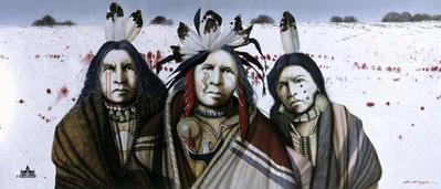 Ghost Dance In The Snow- Signed By The Artist – PaperLithograph – Limited Edition – 600S/N – 16x36