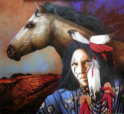 Moon Of The Shedding Ponies- Signed By The Artist								 – Canvas Giclee – Limited Edition – 95 S/N – 16 x 18