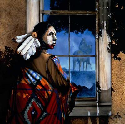 Reflections From The Shadow Spirit- Signed By The Artist – CanvasLithograph – Limited Edition – 95S/N – 23 1/2x23 1/2 –