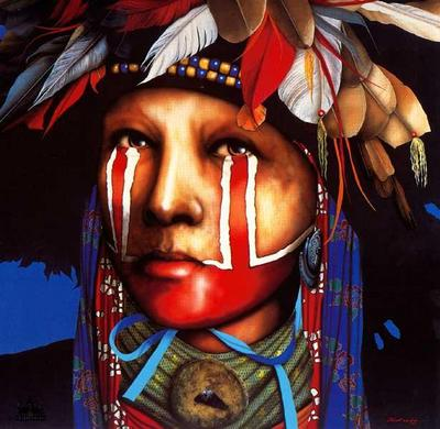 Remembering The Sacred Ways- Signed By The Artist – PaperLithograph – Limited Edition – 800S/N – 23 1/2x23 1/2