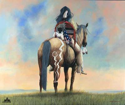 Spirit Never Dies- Signed By The Artist – CanvasSerigraph – Limited Edition – 49S/N – 35x29 –