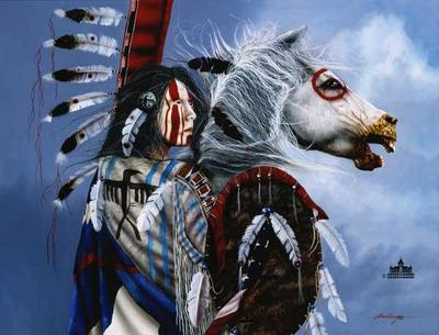 Spirit Rider- Signed By The Artist – PaperGiclee – Limited Edition – 125S/N – 18x23 –