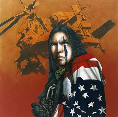 Apache Wind- Signed By The Artist								 – Canvas Giclee – Limited Edition – 95 S/N – 14 x 14