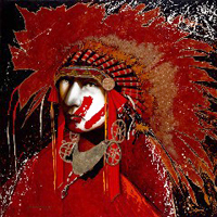 Red Hands Victory- Signed By The Artist – CanvasGiclee – Limited Edition – 95S/N – 18x18