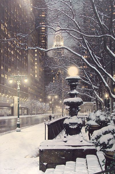City Lights- Signed By The Artist – CanvasLithograph – Limited Edition – 395S/N – 36x24