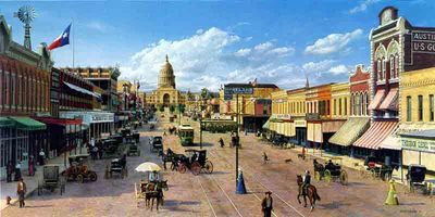 Picturing The Past Austin, Texas- Signed By The Artist – CanvasLithograph – Limited Edition – 295S/N – 17x34