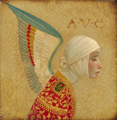 Angel With Epaulet- Signed By The Artist								 – Canvas Giclee – Limited Edition – 450 S/N – 8 x 8