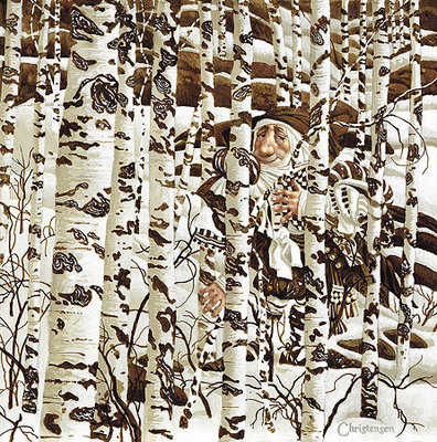 A Christensen Character Cleverly Camouflaged In A Doolittle Landscape- Signed By The Artist								 – Paper Lithograph – Limited Edition – A/P – 12 x 12