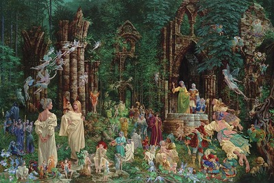 Court Of The Faeries- Signed By The Artist								 – Paper Lithograph – Limited Edition – 3500 S/N – 22 x 33