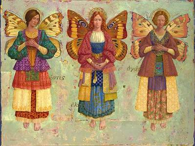 Faith, Hope And Charity- Signed By The Artist – PaperLithograph – Limited Edition – 550S/N – 22x29 –