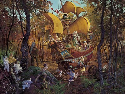 Flight Of The Fablemaker- Signed By The Artist								 – Paper Lithograph – Limited Edition – A/P – 22 1/2 x 30