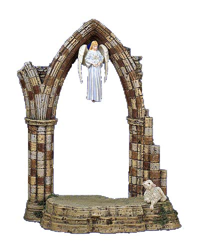 Glorianna And The Creche- SculpturePearl Bisque – 3-Dimensional – Limited – 111/4″ High –