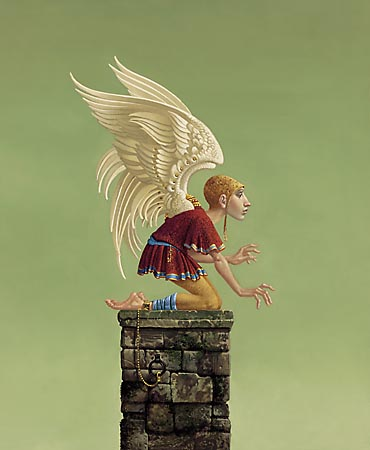 Icarus Bound- Signed By The Artist – PaperLithograph – Limited Edition – A/P – 14 3/4x12 1/4