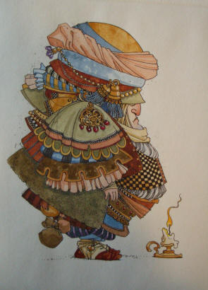 Jack Be Nimble – Etching- Signed By The Artist – PaperEtching – Limited Edition – 60S/N – 9x6 3/4