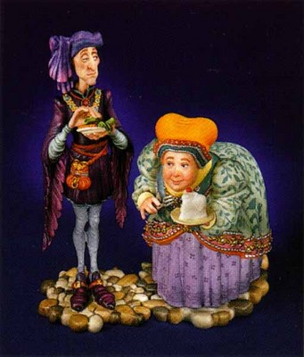 Jack Sprat And His Wife- SculpturePorcelain – 3-Dimensional – 1500Limited – 8″ High